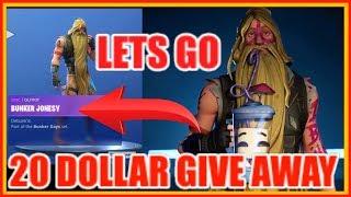 20 DOLLAR GIVEAWAY (Season 9 ) Customs Games Fortnite Battle Royal