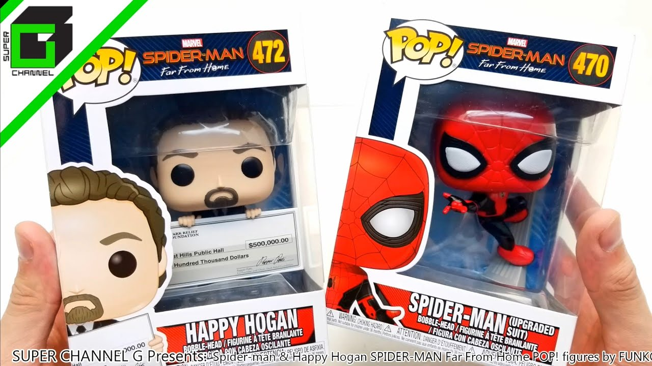 Spider-Man & Happy Hogan FUNKO POP! from SPIDER-MAN Far From Home 470 and 472