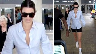 EXCLUSIVE - Kendall Jenner Returns From The Versace Show In Milan