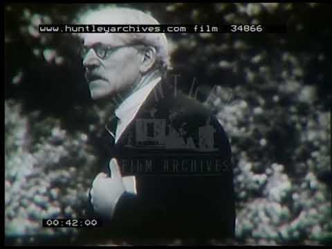 Ramsay MacDonald Speech, 1930s - Film 34866