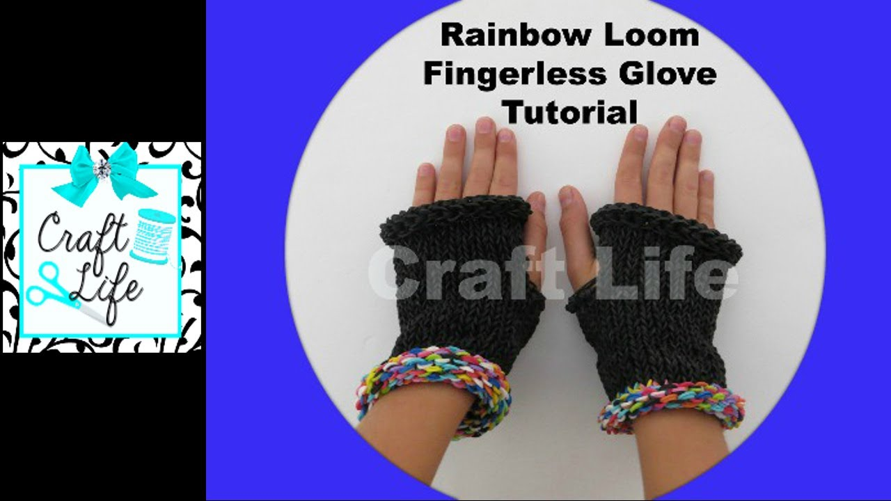 Craft Life Rainbow Loom Fingerless Gloves Tutorial ~ One ... Rainbow Loom Mini Purse Craft Life