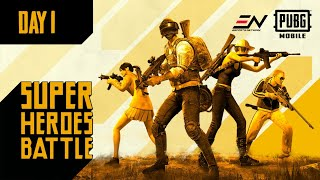 PUBG Mobile Super Heroes Battle | Teams in Action on Day 1
