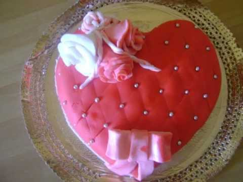 Torta Cuscino Passo Passo.Torta San Valentino Youtube