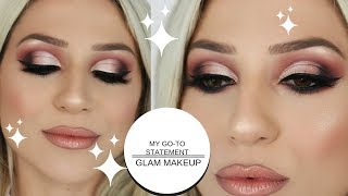 MY GO- TO GLAM MAKEUP LOOK || GIO DREVELI ||