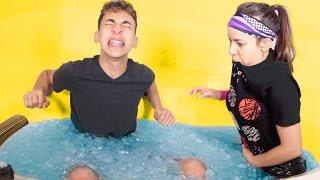 Freezing Cold Ice Bath Challenge!