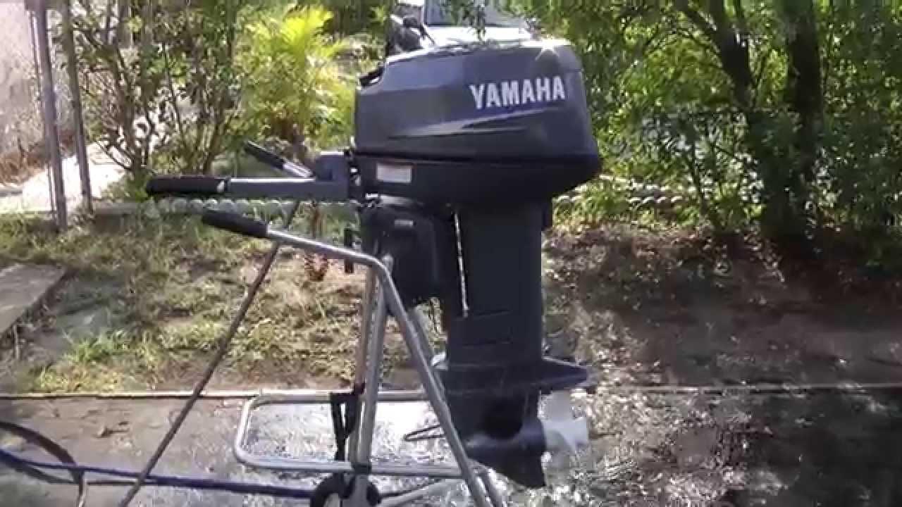 2009 yamaha 25hp 2 stroke short shaft outboard motor youtube for Yamaha 25hp 2 stroke outboard