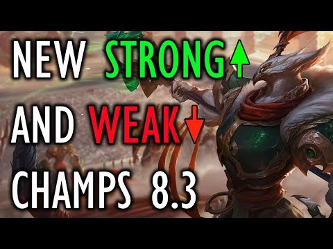 New Strong and Weak Champs For Patch 8.3