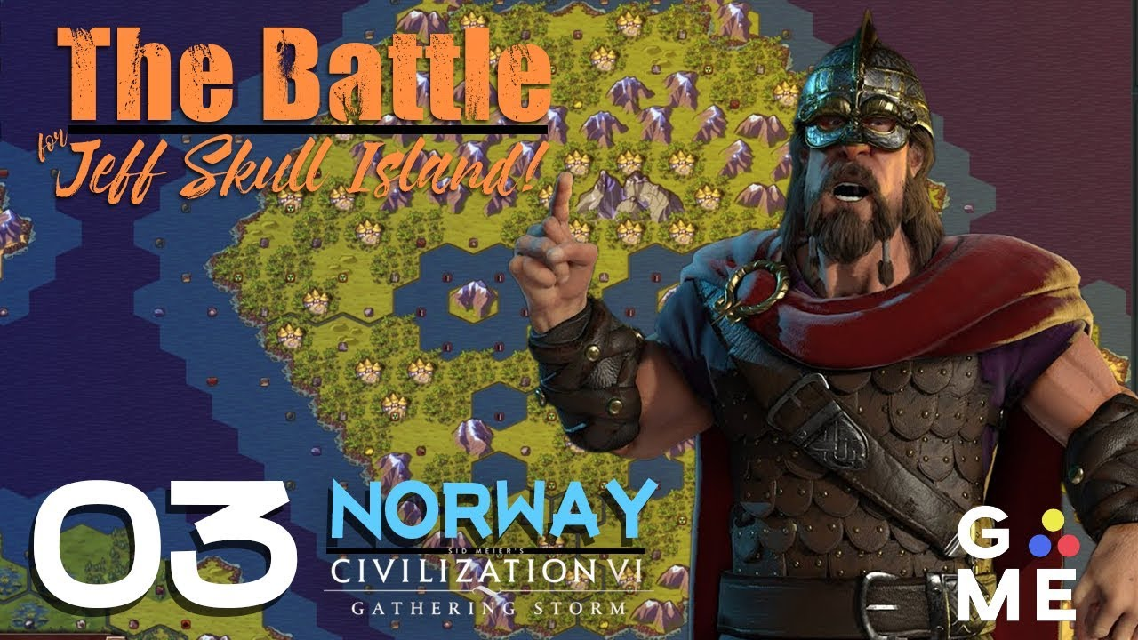 The Battle for Jeff Skull Island - Deity Norway | Civ 6 Gathering Storm -  Custom Map | Episode 3