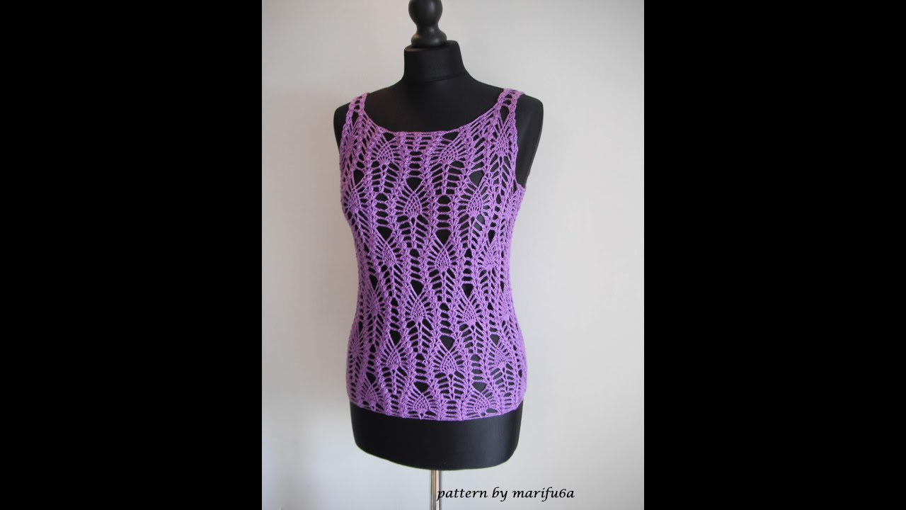 How To Crochet Pineapple Top Free Pattern Tutorial By