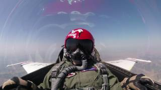 Flying in a USAF Thunderbird over Great Falls