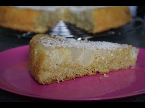 gâteau-renversé-poires-coco-bananes-sans-gluten