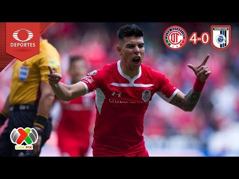 Resumen Toluca 4 - 0 Querétaro | Apertura 2018 - Jornada 14 | Televisa Deportes
