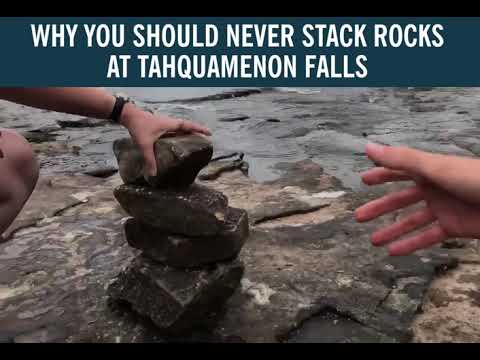 Why it's bad to stack rocks at Tahquamenon Falls - YouTube
