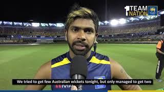 Niroshan Dickwella on Day 1 of the 1st Test - Sri Lanka tour of Australia