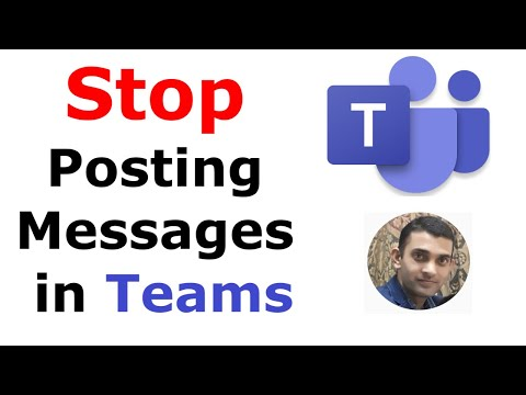 How to Stop Students from Posting messages in Teams | How to Disable Messages in Teams Meeting