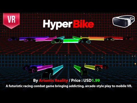 HyperBike Gear VR -  a futuristic racing combat game bringing addicting, TRON style in VR