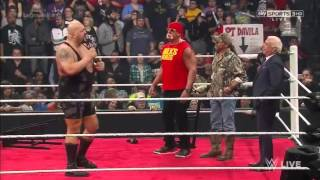 Wwe Raw 19/01/2015 Legends Panel Roman Reigns Save Hbk and Hulk hogan from Big show