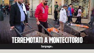 Terremotati del Centro Italia davanti Montecitorio: