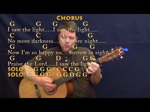 I Saw The Light (Hank Williams) Guitar Cover Lesson  with Chords/Lyrics - Country Feel
