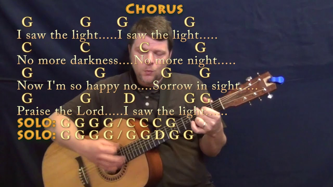 I Saw The Light Hank Williams Guitar Cover Lesson With Chords