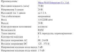 RS-75-24 Блок питания, 24В,3.2А,75Вт.(, 2012-10-29T23:11:07.000Z)