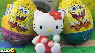 Surprise Egg Dora The Explorer Spongebob Disney Hello Kitty Cinderella Mikey Mouse Ben 10 Omniverse