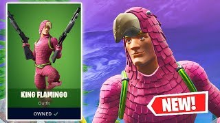 NEW KING FLAMINGO Skin Gameplay in Fortnite!
