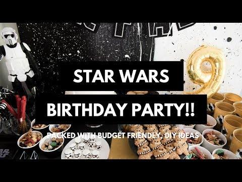 STAR WARS inspired BIRTHDAY PARTY!!  BUDGET FRIENDLY, DIY IDEAS!