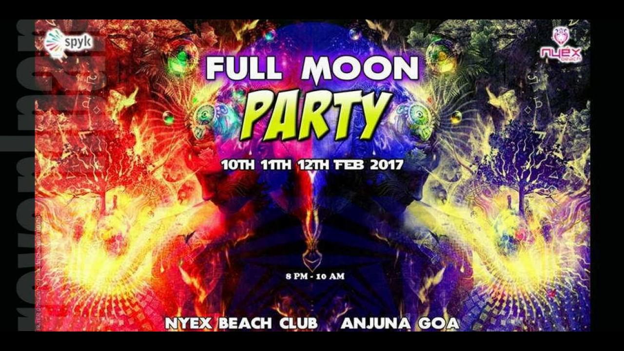 Dark Psytrance Orion Project Full Moon Party Nyex Club Goa 12 02 17