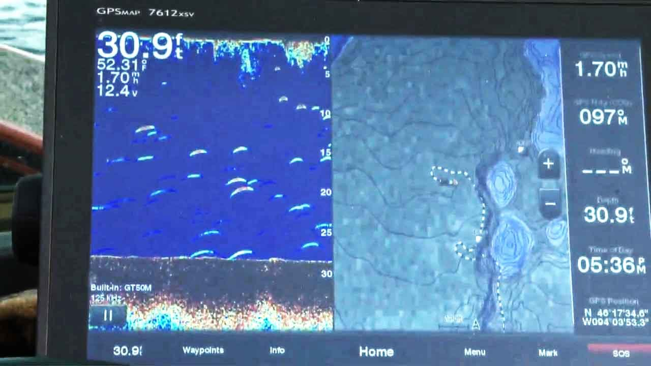 how to track and find fish on a electronic fish finder garmin, Fish Finder
