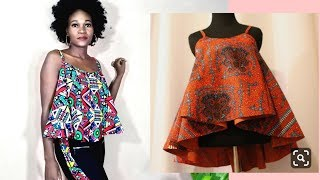 How to cut and Sew Circle top with Straps-Medium size