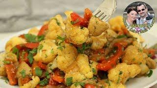 Цветная капуста с овощами. Замечательный салат или закуска на стол. Вкусно и быстро. Кухня в кайф.