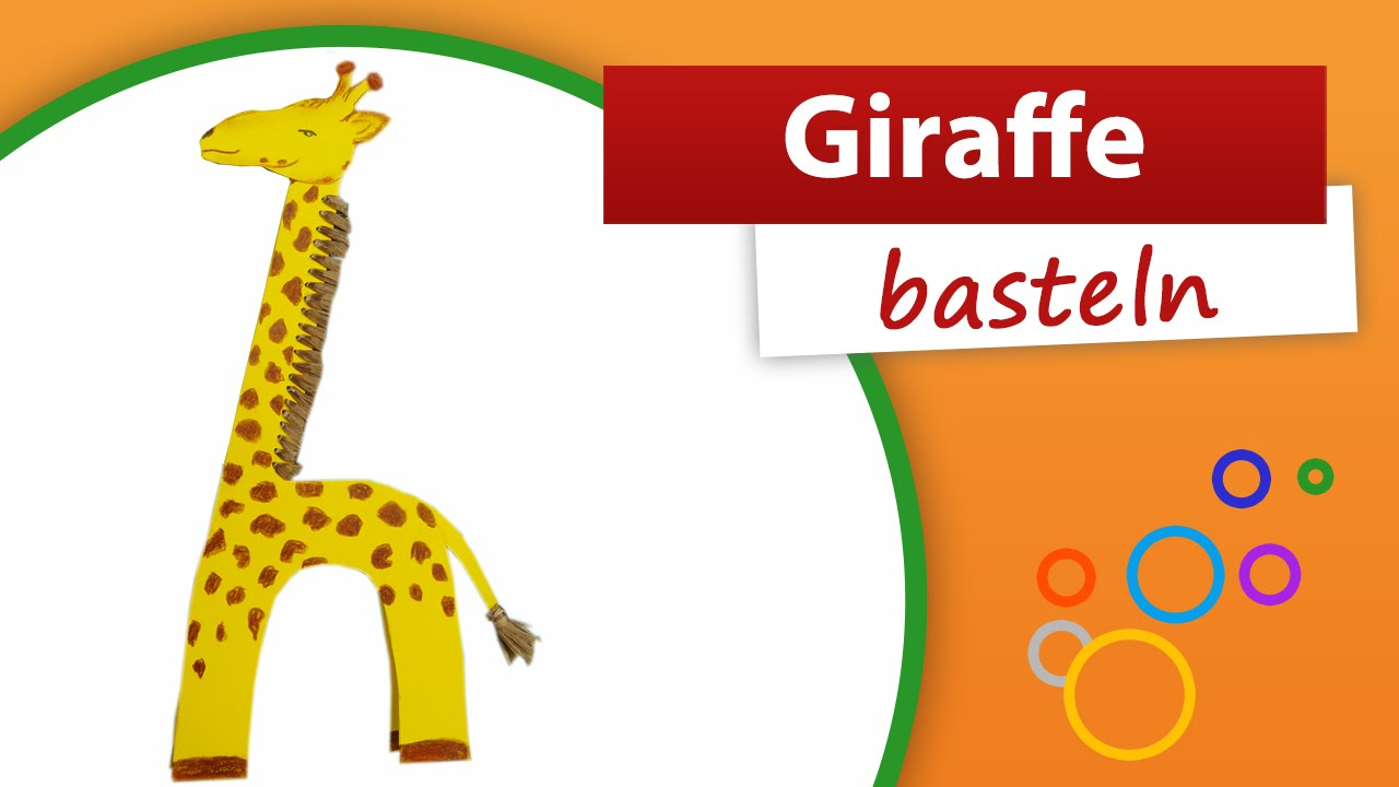 giraffe basteln trendmarkt24 bastelidee und anleitung youtube. Black Bedroom Furniture Sets. Home Design Ideas