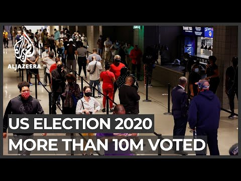 US election: More than 10 million Americans cast early votes