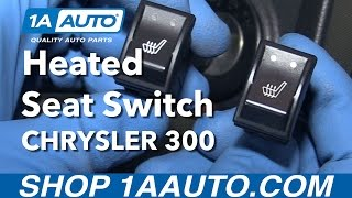 How to Install Replace Front Dash Mounted Seat Heater Switch 2005-10 Chrysler 300
