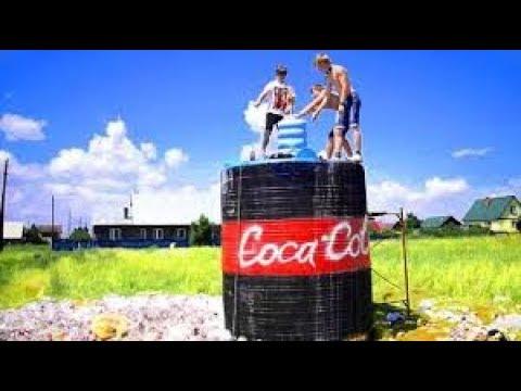 10 000 ЛИТРОВ КОКА КОЛА + МЕНТОС   10 000 liters of Coca Cola + Mentos #MAMIX2.0