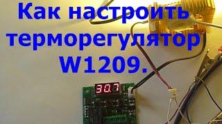 как настроить терморегулятор W1209 для инкубатора.The setting of the thermostat