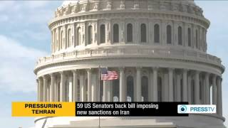 59 US senators back bill imposing new sanctions on Iran