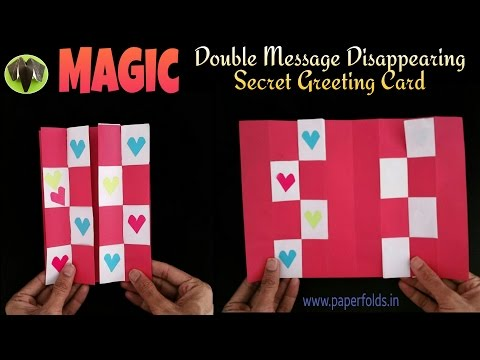 DOUBLE MESSAGE DISAPPEARING SECRET | MAGIC Card - DIY Tutorial by Paper Folds ❤️