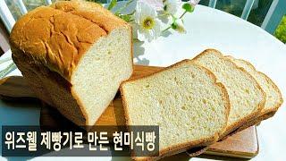 위즈웰 제빵기로 만든 현미식빵