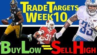 Fantasy Football Trade Targets - Week 10 Buy-Low & Sell-High