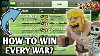 🎯HOW TO WIN EVERY CLAN WAR IN CLASH OF CLANS 💪 | BEST TIPS TO MAKE A GOOD CLAN 😇