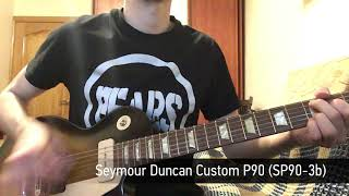 Comparison of P90 pickups (Gibson,Seymour Duncan, Kent Armstrong)