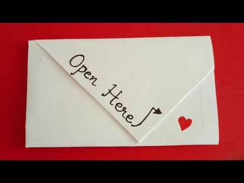 Easy Origami Friendship Day Note | DIY Friendship Day Letter Folding Ideas #friendshipdayspecial