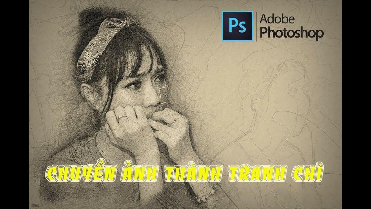 Tech 24 | Hướng dẫn chuyển ảnh thành tranh chì vẽ tay với Photoshop Action