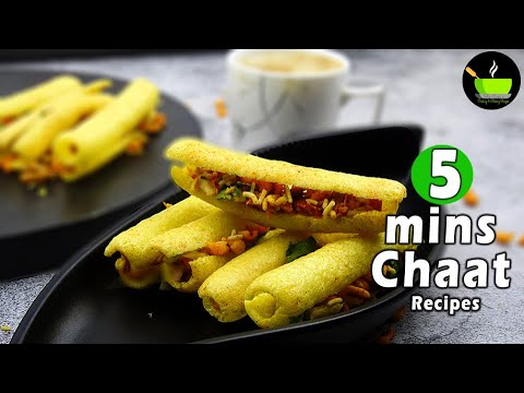 5 Mins Chaat Recipes | Chatpata  Chaat Recipes | Street Style Chaat Recipes | Indian Street Food