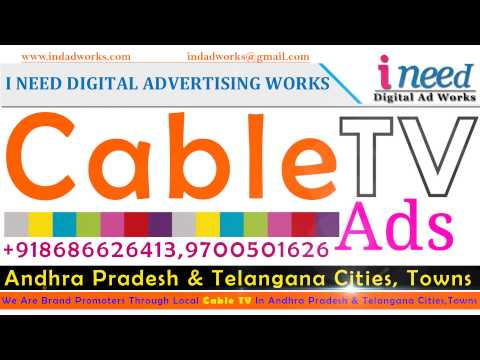 Cable TV Ads In Hyderabad & Secunderabad & Andhra Pradesh & Telangana Cities, Towns