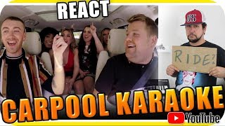 SAM SMITH, FIFTH HARMONY & JAMES CORDEN KARAOKE - Marcio Guerra Reagindo React Reação