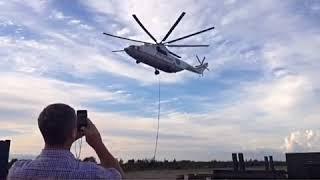 Красивые виды с борта МИ-26 - самого большого вертолета в мире. ООО Т-Транс