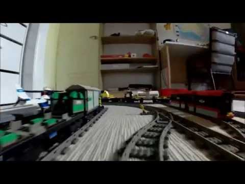 Landscaping Model Railway Toy Train Track Plans -2015 Awesome Lego Train Set. Going through the House and into the Garden. (Drivers View)